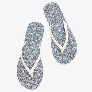 Tory Burch Gemini Leather Flip flop sandals